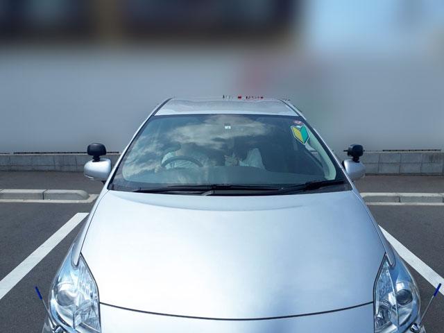 集合場所の教習車